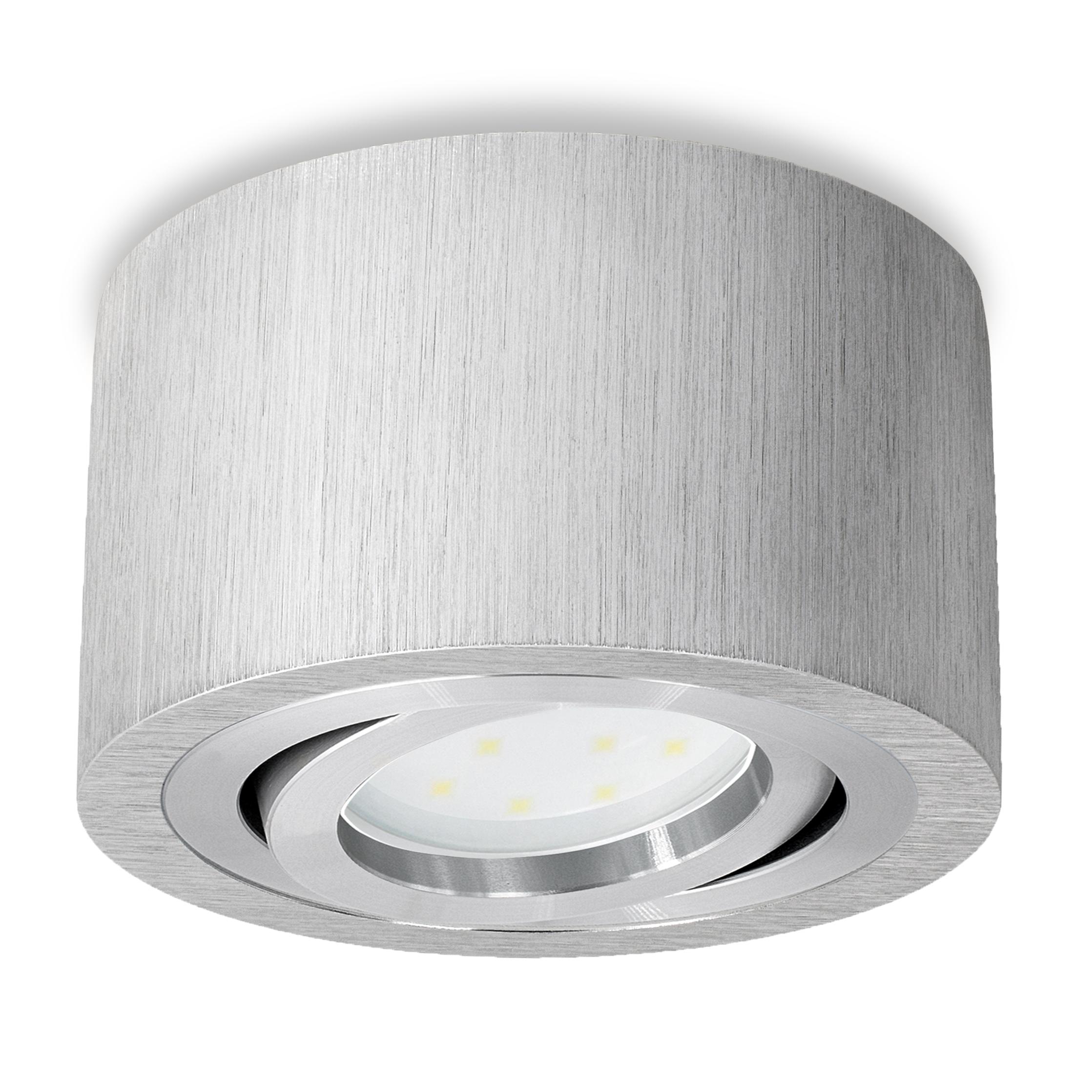 Leuchten & Leuchtmittel Symbol Der Marke Aufbau Spotleuchte Rund Strahler Deckenleuchte Gu10 5w Led Leuchtmittel 230v Neueste Technik
