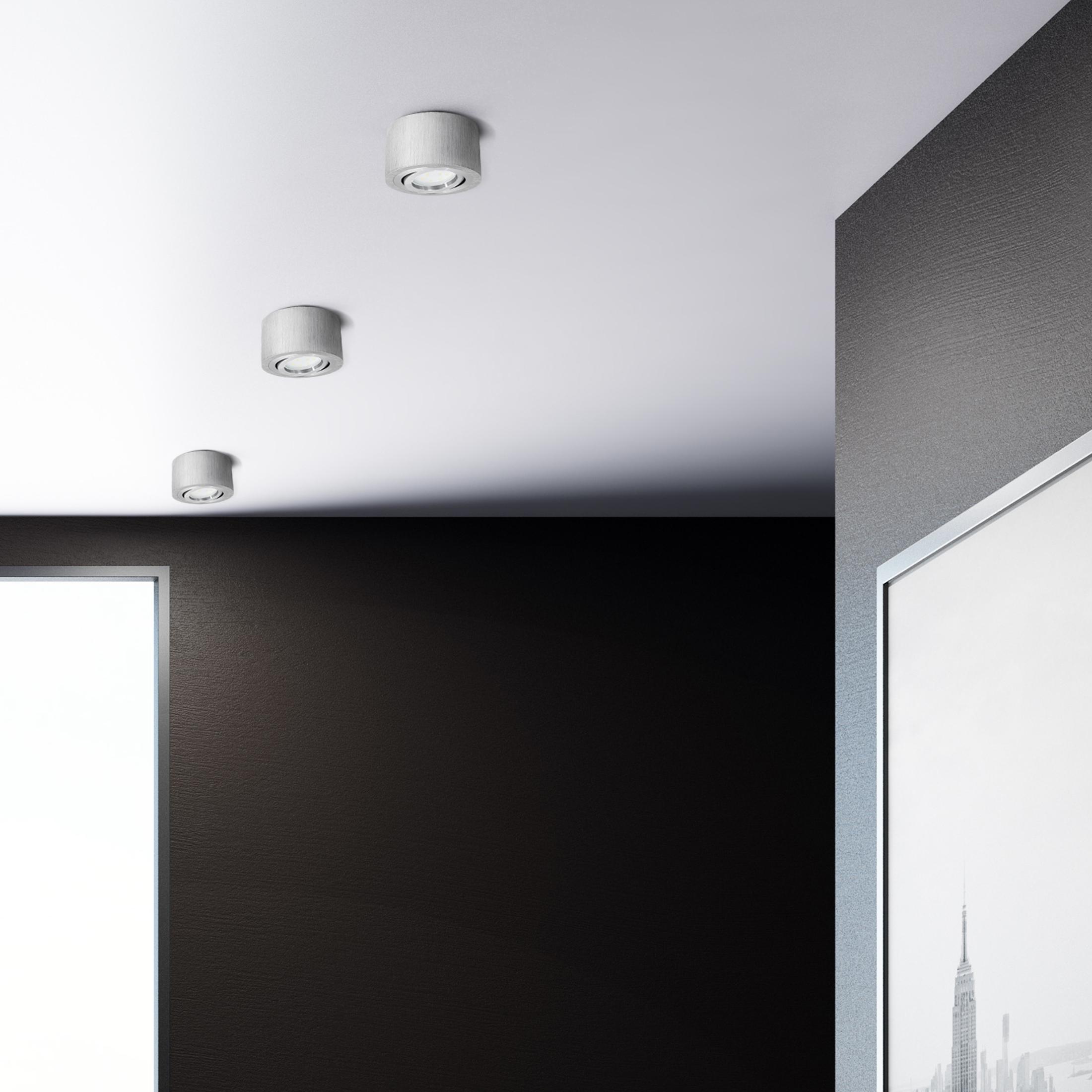 flacher decken aufbau spot alu geb rstet schwenkbar inkl led modul 5w warm weiss 230v. Black Bedroom Furniture Sets. Home Design Ideas