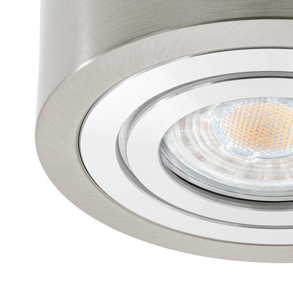 Feuchtraum Decken-Aufbau-Spot Alu Eisen gebürstet, IP44, inkl. LED  - 5W 420lm 4000K neutralweiß – Bild 3