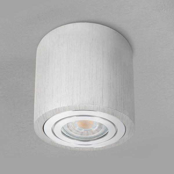 Feuchtraum Bad Aufbau Deckenspot Alu gebürstet IP44 inkl. LED 5W 2700K warmweiß – Bild 4