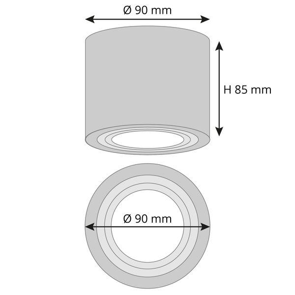 Feuchtraum Aufbau-Spot Alu gebürstet, IP44, inkl. LED 5W 420lm 4000K neutralweiß – Bild 6