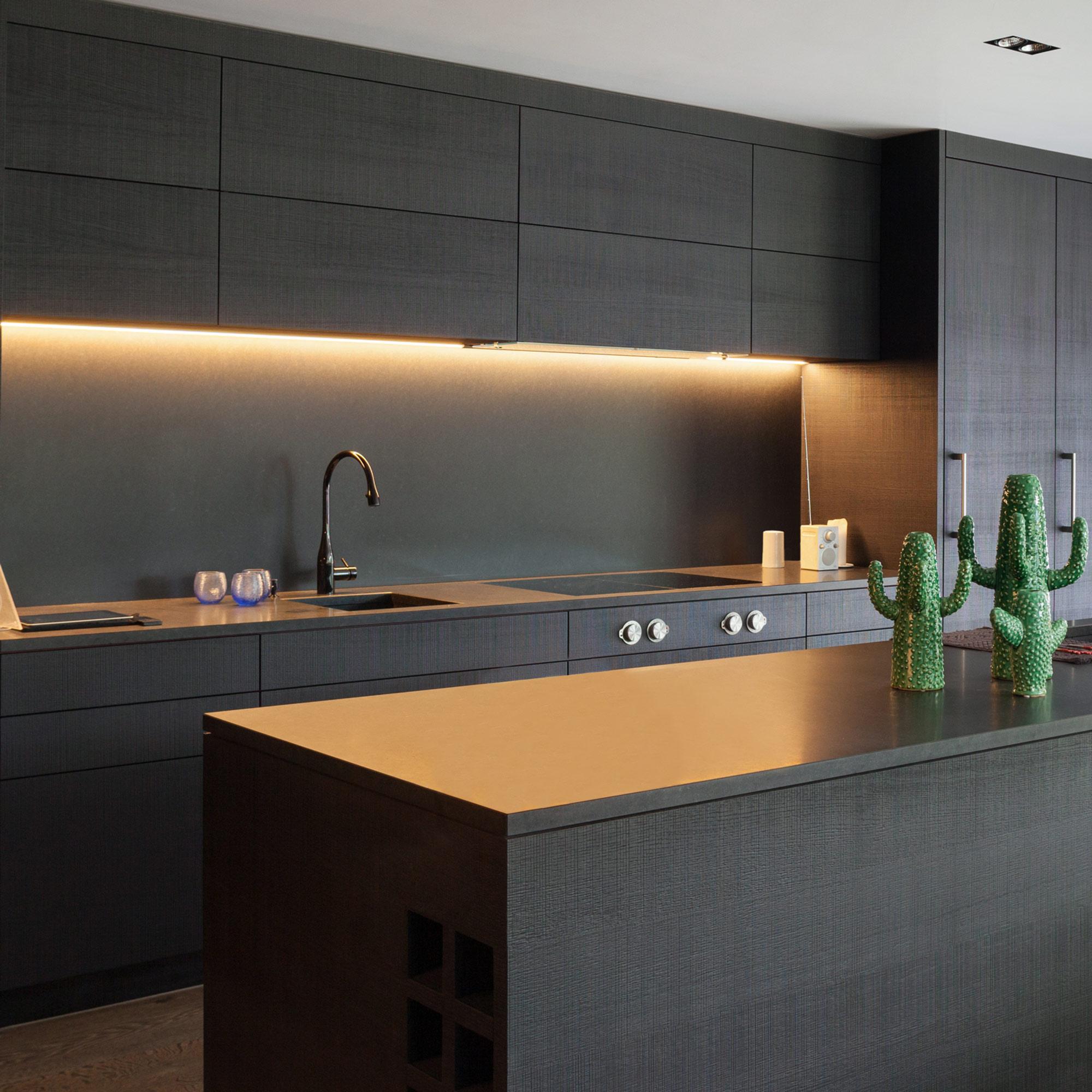 StripeLED Unterbauleuchten Set, 3 Lichtleisten Mit Je 9W Warmweiß 60cm +  Touch Dimmer,