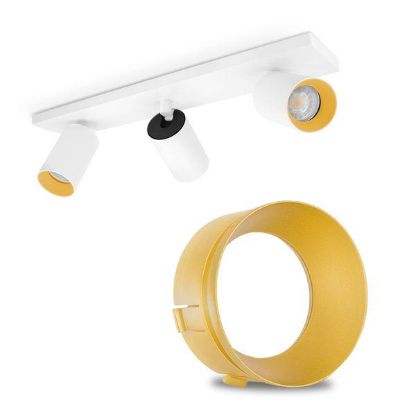 Zubehör zu Deckenstrahler ALVO 1 bis 4 - Frontring Blende Innenring - goldfarben golden – Bild 4