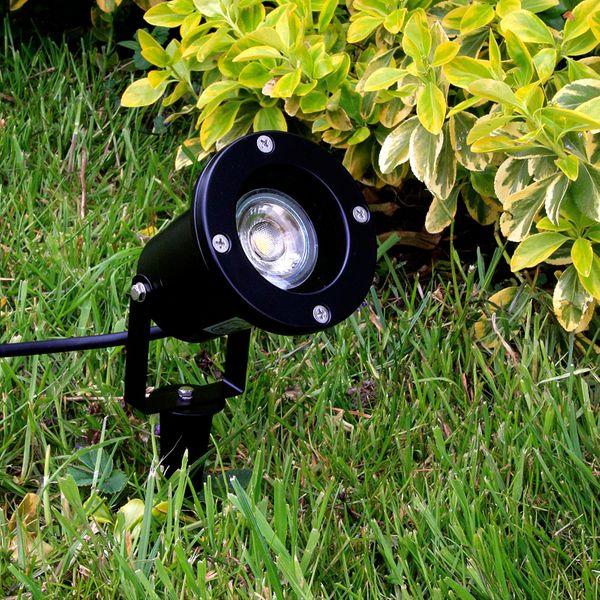 LED-Gartenstrahler mit Erdspieß und Kabel, rund schwarz, 3W neutralweiß, GU10 230V IP68/ IP44 – Bild 6