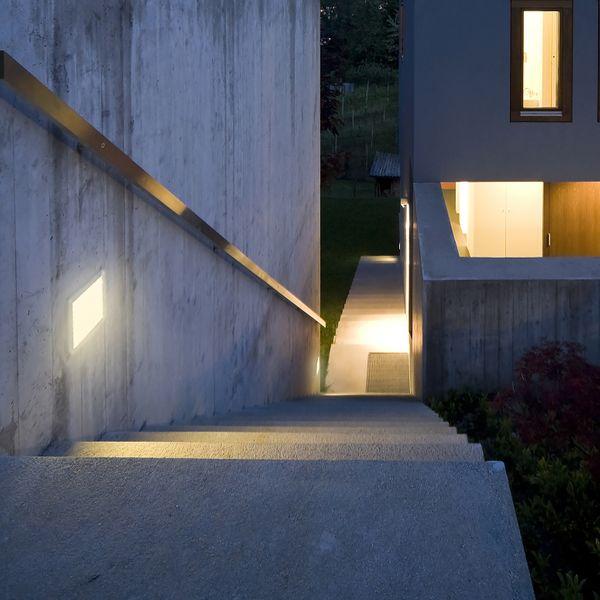 Große LED Treppen Einbauleuchte Piko-LQ quadratisch Lichtfarbe warmweiß 230V IP65 3,5W – Bild 3