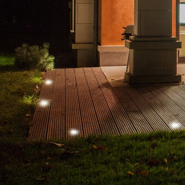 LED Bodeneinbaustrahler MARNE 5W neutralweiß GU10 230V dimmbar rund Edelstahl gebürstet – Bild 5