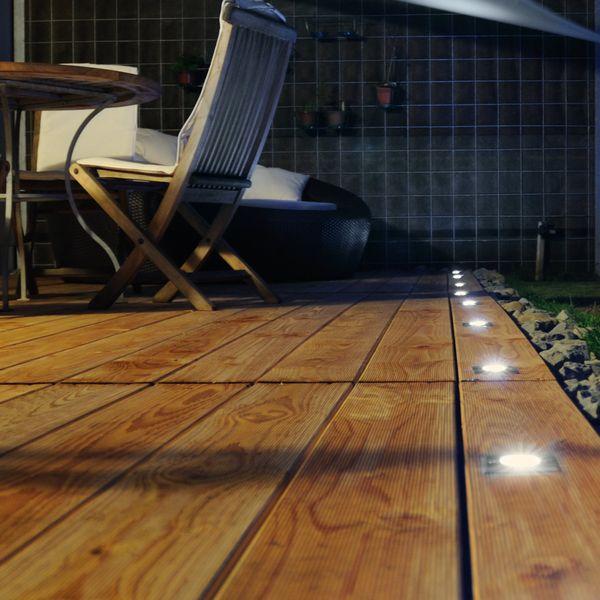 LED Bodeneinbaustrahler MADON mit 5W LED GU10 neutralweiß dimmbar - quadratisch Edelstahl gebürstet  – Bild 5