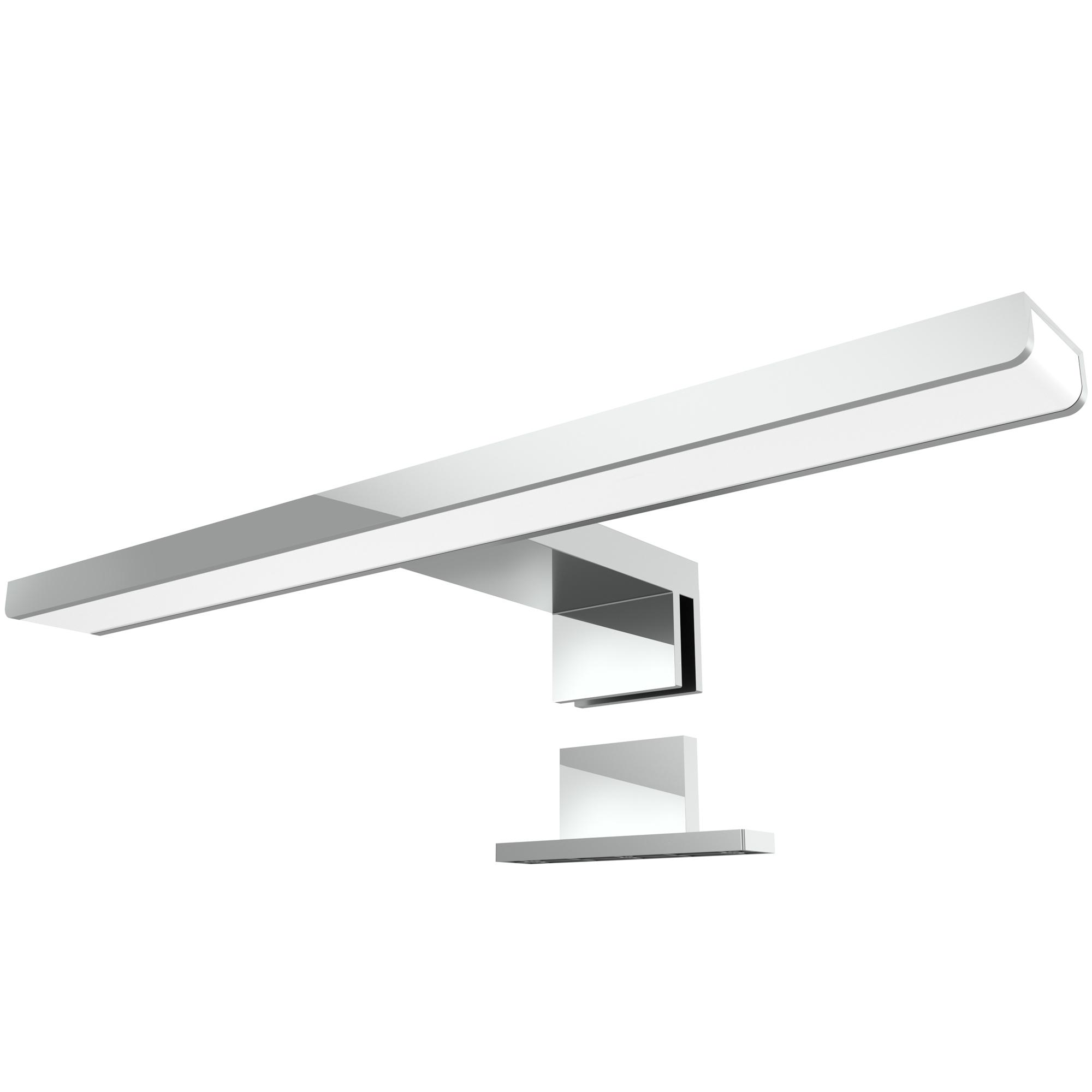 LED Bad Spiegelleuchte LEVA 8-in-8 Aufbauleuchte / Klemmleuchte 8cm 8W  IP8 warmweiß chrom glänzend