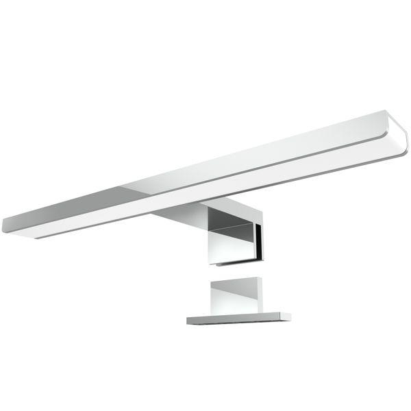LED Bad Spiegelleuchte LEVA 2-in-1 Aufbauleuchte / Klemmleuchte 30cm 5W IP44 warmweiß chrom glänzend – Bild 1