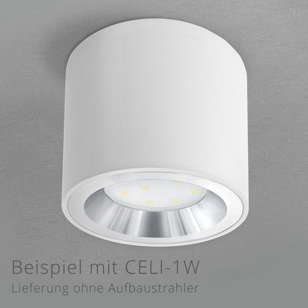 Blende für Aufbauleuchten CELI-2W & CELI-3W - Innenring Front starr Alu poliert – Bild 2