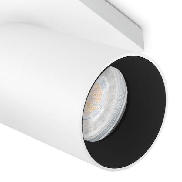 Moderne Spot Deckenleuchte ALVO 1 in Weiß Schwarz inkl. LED GU10 5W warmweiss – Bild 5