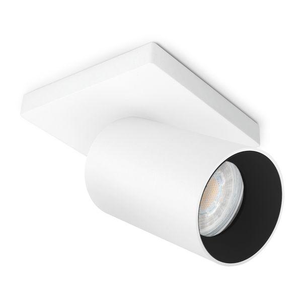 Moderne Spot Deckenleuchte ALVO 1 in Weiß Schwarz inkl. LED GU10 5W warmweiss – Bild 1
