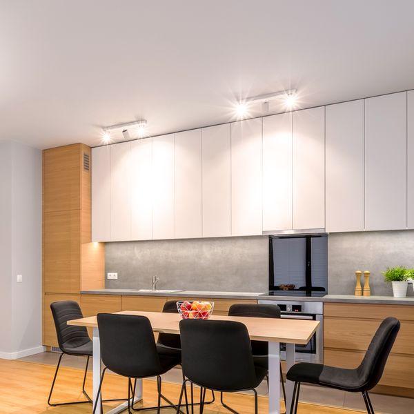 Moderne Spot Deckenleuchte ALVO 3 in Weiß Schwarz inkl. 3x LED GU10 5W warmweiss – Bild 4