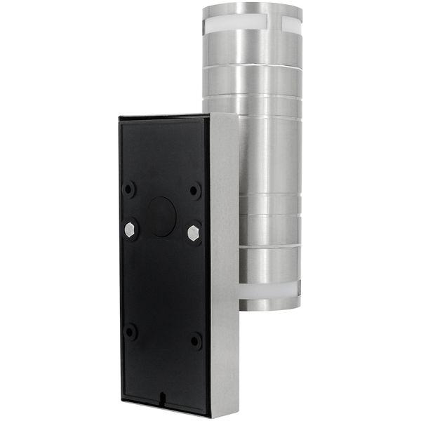Außen Wandleuchte mit Bewegungsmelder IP44 Edelstahl mit 2 LED GU10 3W neutralweiß – Bild 5