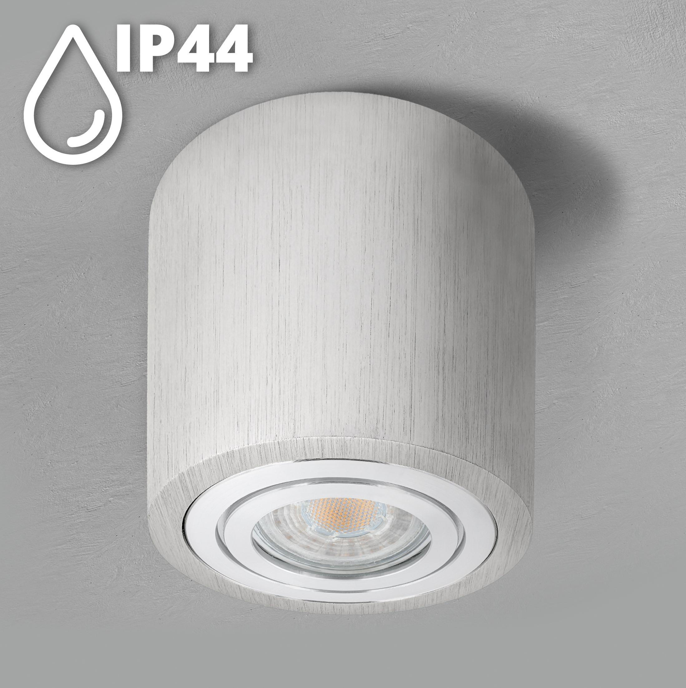 Feuchtraum Aufbau Spot Alu gebürstet, IP20, inkl. LED   20W neutralweiß 20K