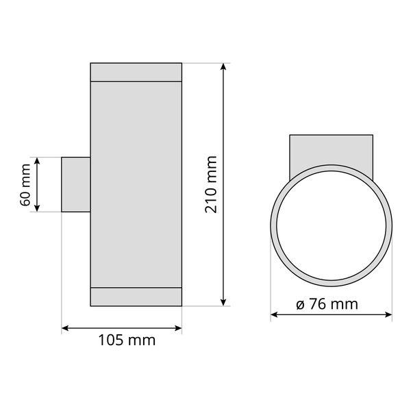 LED-Wandlampe up&down Außen-Wandleuchte Aufbau-Leuchte Edelstahl IP44, inkl. 2 LED 3W, 230V GU10, neutral weiss – Bild 7
