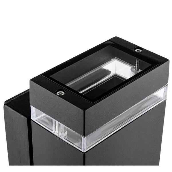 Wandlampe up&down Außen-Wandleuchte Aufbau-Leuchte Alu IP44, schwarz, inkl. 2 LED 3W, 230V GU10, neutral weiss – Bild 4