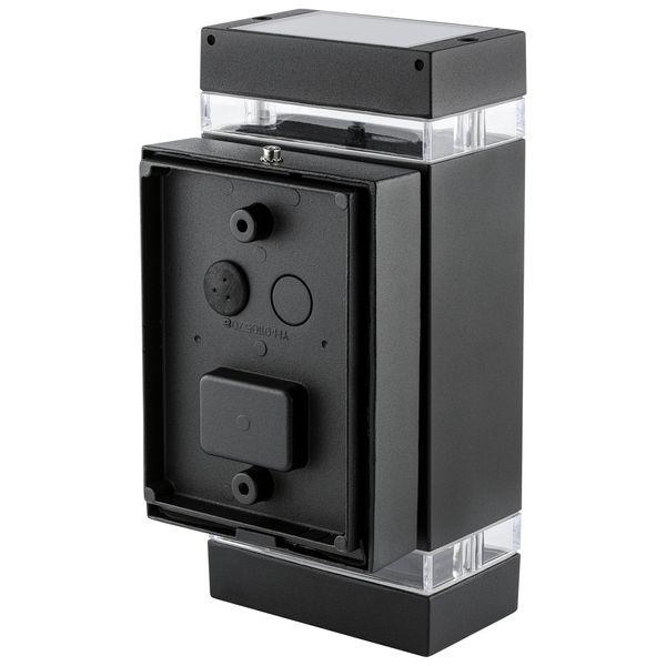 Wandlampe up&down Außen-Wandleuchte Aufbau-Leuchte Alu IP44, schwarz, inkl. 2 LED 3W, 230V GU10, neutral weiss – Bild 3
