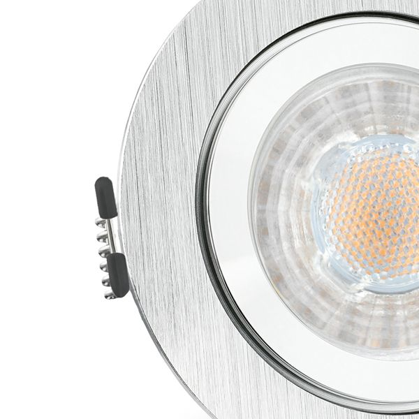 RW-2 LED Einbauleuchte für Bad & Außen IP44 Alu rund inkl. LED GU10 3W warmweiß – Bild 5