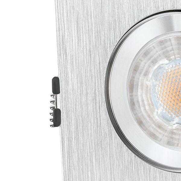 QW-2 LED Einbauspot für Bad & Außen IP44 Alu quadratisch inkl. LED GU10 3W warmweiß – Bild 5