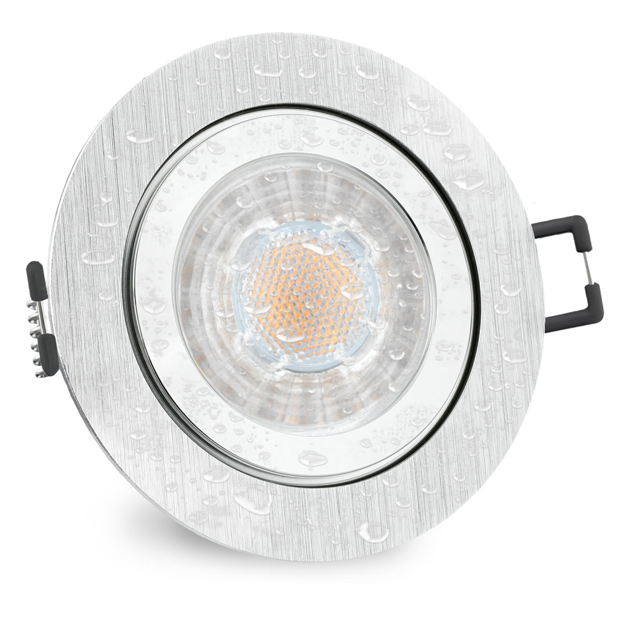 RW-1 LED-Einbaustrahler Edelstahl gebürstet IP65 5W warmweiß GU10 innen//außen