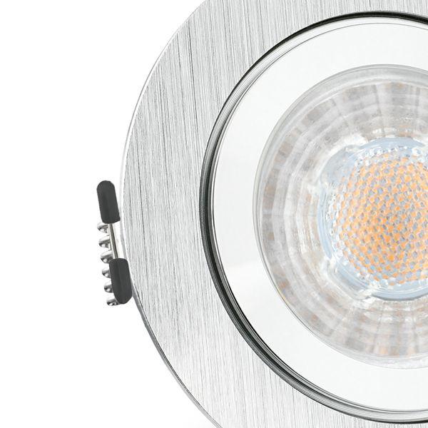 RW-2 LED Einbauleuchte für Bad & Außen IP44 Alu rund inkl. LED GU10 5W warmweiß – Bild 5