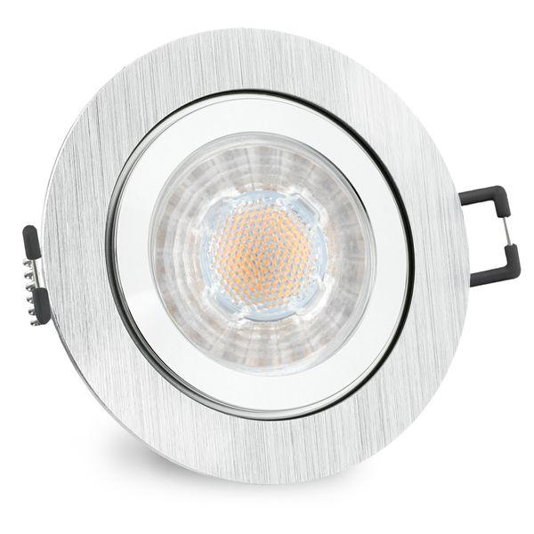 RW-2 LED Einbauleuchte für Bad & Außen IP44 Alu rund inkl. LED GU10 5W warmweiß