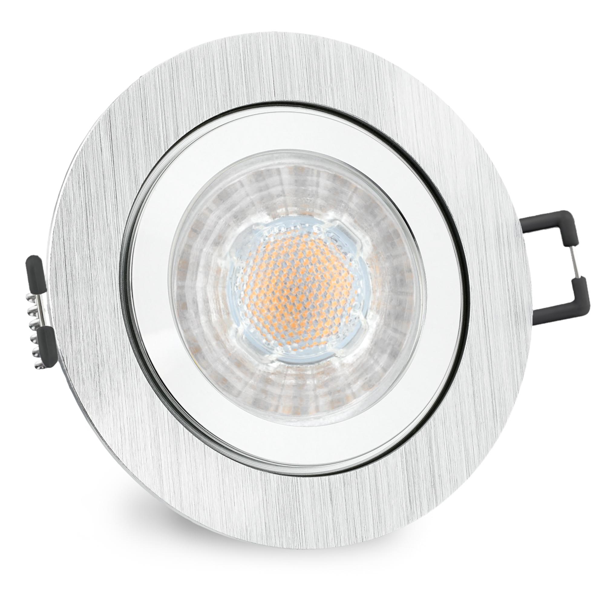 RW-2 LED Einbauleuchte für Bad & Außen IP44 Alu rund inkl. LED GU10 5W  neutralweiß