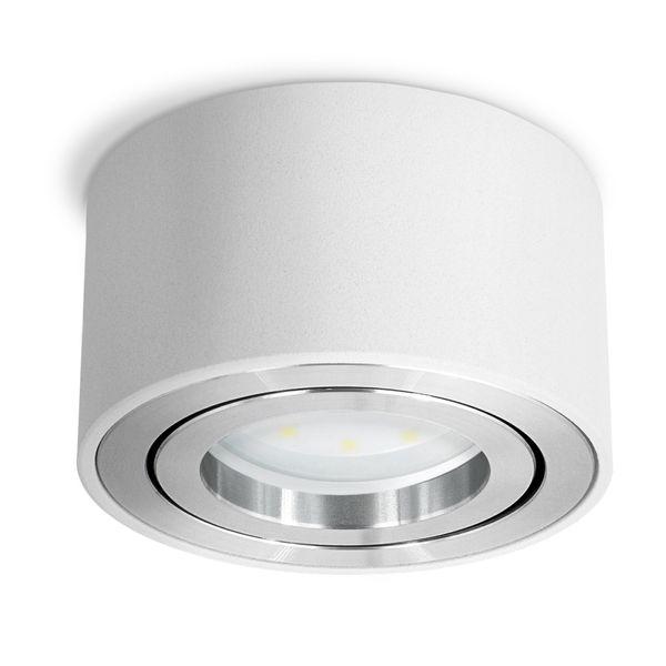 CELI-1W flacher Aufbauspot weiß schwenkbar inkl. fourSTEP LED Modul 5W warmweiß 230V – Bild 4