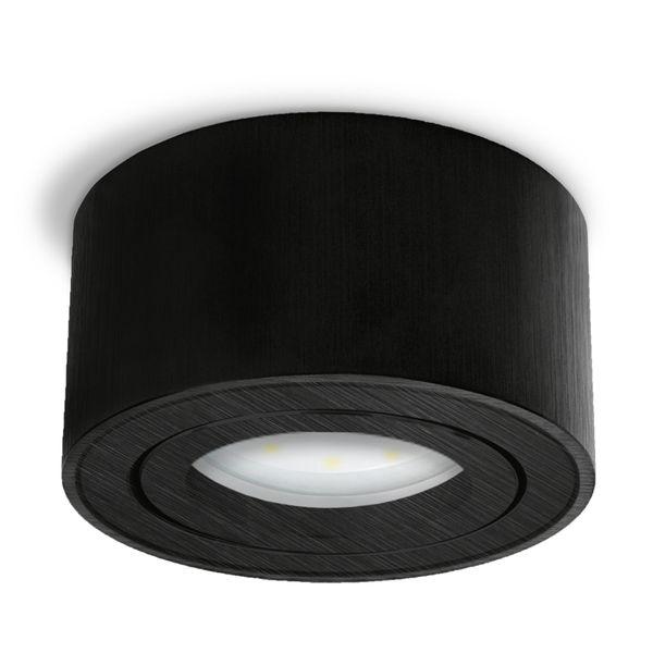 CELI-1B flacher Decken Aufbauspot schwarz schwenkbar inkl. LED Modul 5W warmweiss 230V – Bild 3