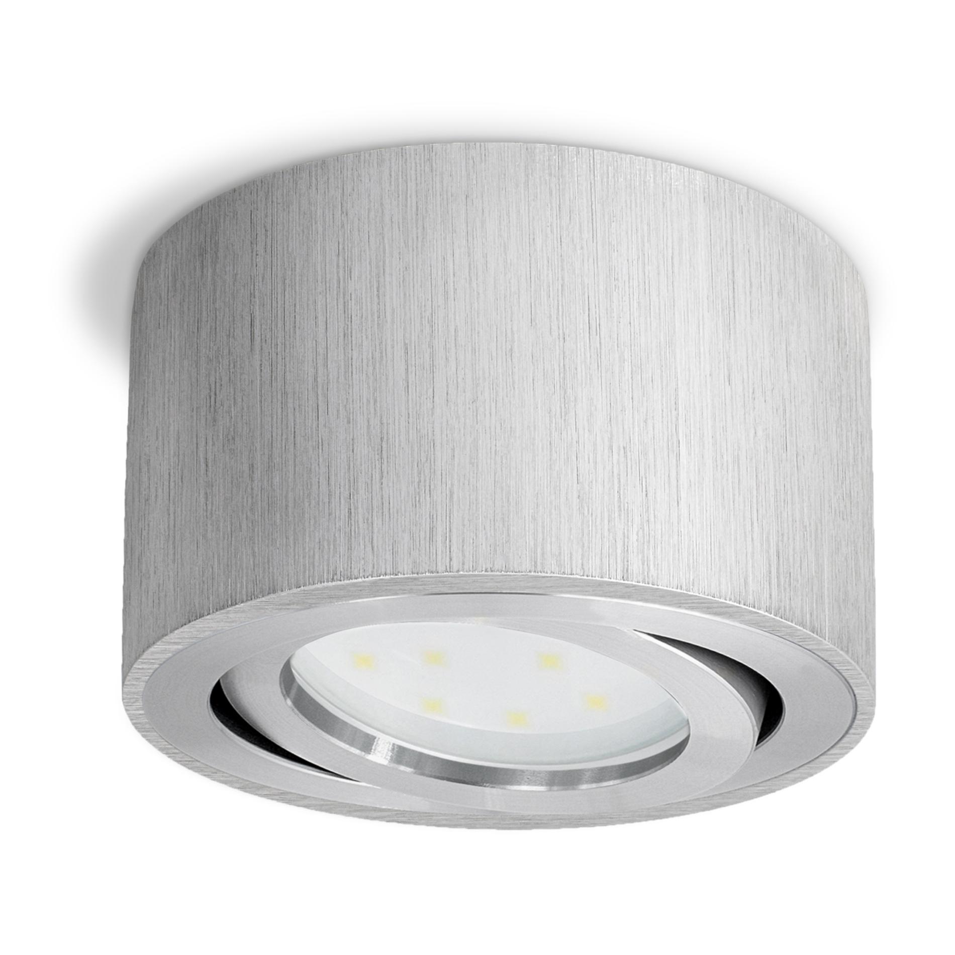 LED 5W Aufbaustrahler Aufbau Leuchte Aufputz Strahler Spot 50mm 230V dimmbar