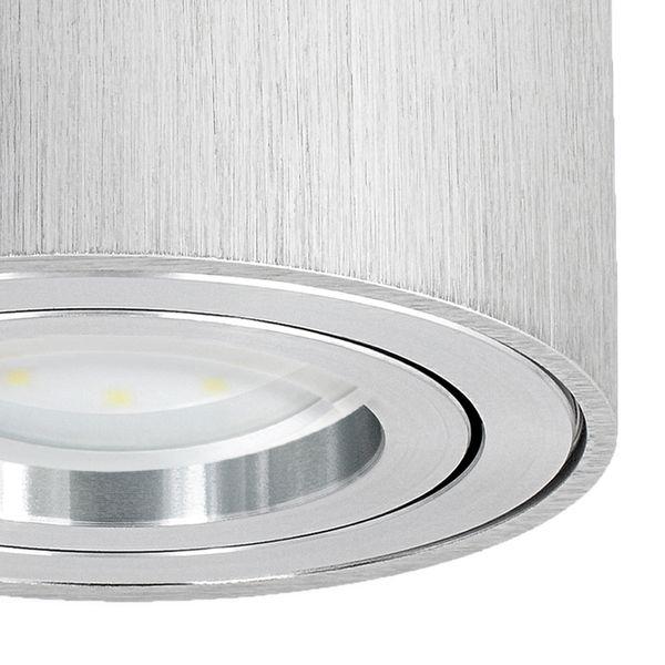CELI-1A flacher Decken Aufbauspot silber schwenkbar inkl. LED Modul 5W neutralweiß 230V – Bild 5