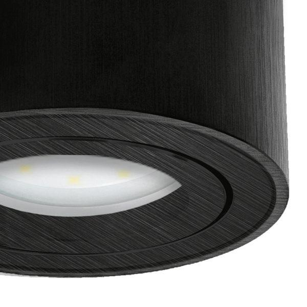 CELI-1B Aufbauspot flach schwarz gebürstet schwenkbar inkl. fourSTEP LED Modul 5W neutralweiß 230V – Bild 6