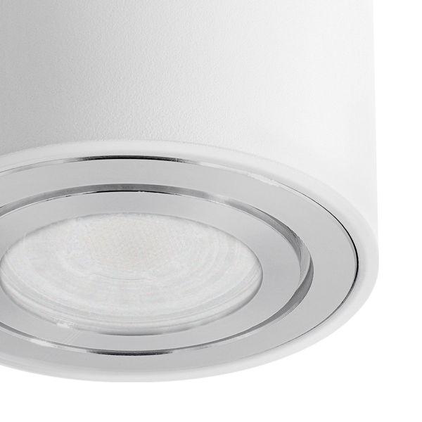 CELI-3W LED Aufbauspot weiß IP44 inkl. LED GU10 5W warmweiß Aufbaustrahler Bad Außen  – Bild 5