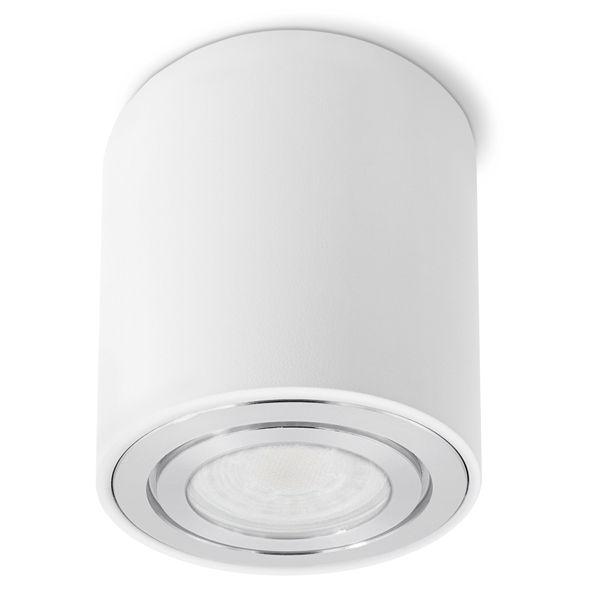 CELI-3W LED Aufbauspot weiß IP44 inkl. LED GU10 5W neutralweiß für Bad & Aussen  Stückzahl: 1er Set