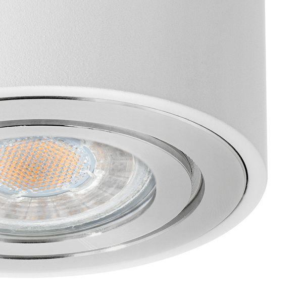 CELI-2W Aufbaustrahler schwenkbar rund & weiß Spot Strahler inkl. LED GU10 5W warmweiß Stückzahl: 1er Set – Bild 5