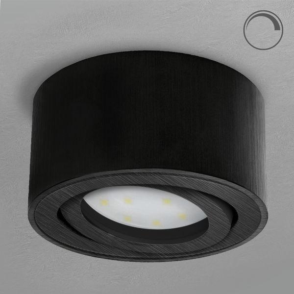CELI-1B Aufbauspot schwarzes Alu schwenkbar inkl. DIMMBAREM LED Modul 5W warmweiß 230V – Bild 2