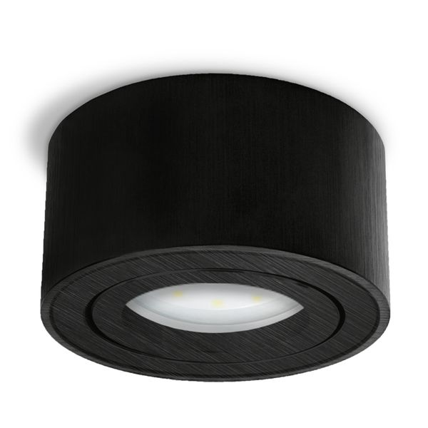 CELI-1B Aufbauspot schwarzes Alu schwenkbar inkl. DIMMBAREM LED Modul 5W warmweiß 230V – Bild 3