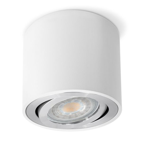 CELI-2W Aufbaustrahler schwenkbar rund & weiß Spot inkl. GU10 LED 5W 36° neutralweiß 4000K Stückzahl: 1er Set