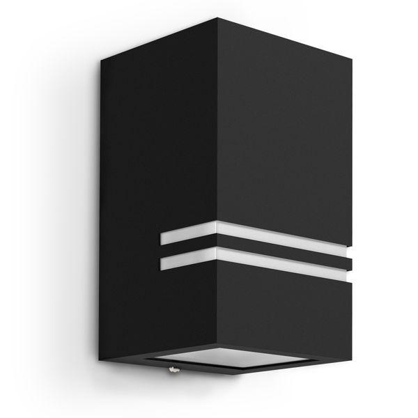 Außen Wandleuchte JOVO-S Up oder Down, matt Schwarz, IP44 inkl. LED 3W warm weiss Stückzahl: 1er Set