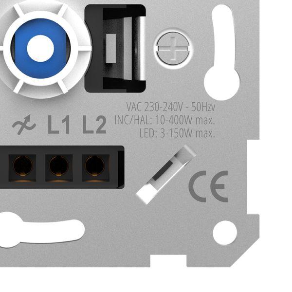 Universal Drehdimmer Dimmschalter LUXARA für dimmbare LEDs 3-150W (Stift Ø 4mm/ 6mm) – Bild 4
