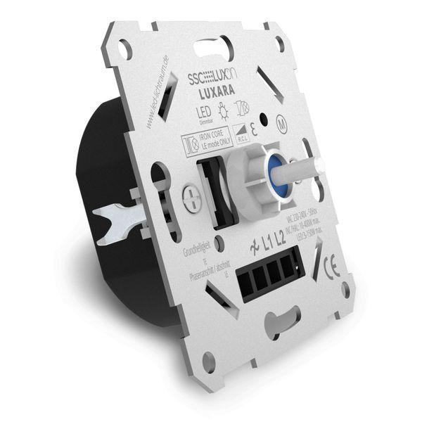 Universal Drehdimmer Dimmschalter LUXARA für dimmbare LEDs 3-150W (Stift Ø 4mm/ 6mm) – Bild 1