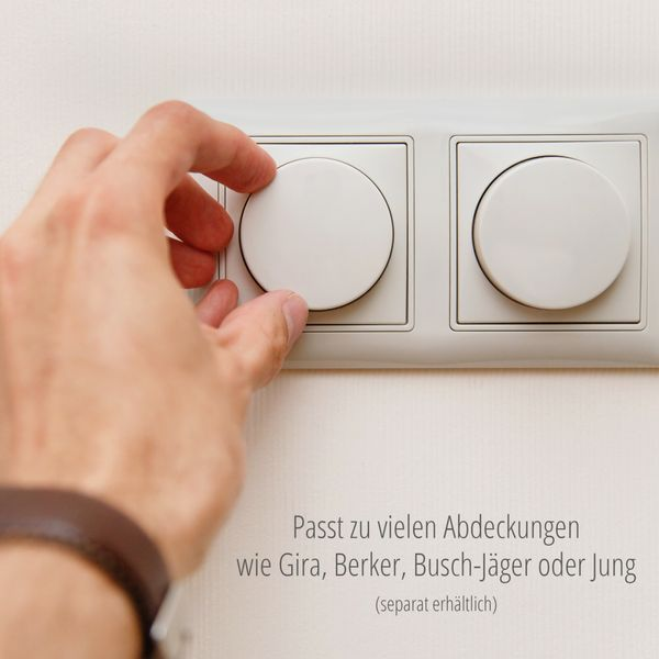 Universal Drehdimmer Dimmschalter LUXARA für dimmbare LEDs 3-150W (Stift Ø 4mm/ 6mm) – Bild 3
