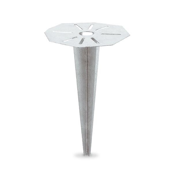 Universal Erdspieß Stahl feuerverzinkt für Pollerleuchten, Energiesäulen - 30 x 18,5 cm – Bild 1