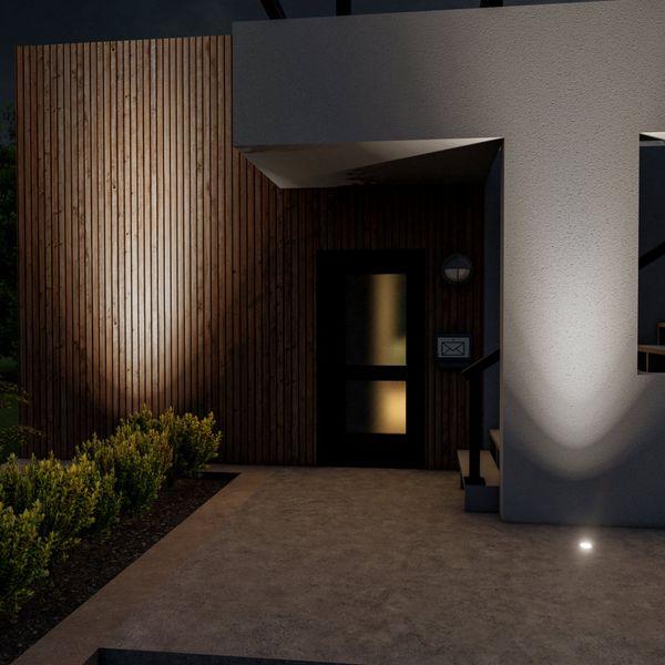 Schwenkbarer LED Bodeneinbaustrahler JUAVI IP67 inkl. LED GU10 3W neutralweiß 230V – Bild 2