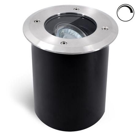 4x GU10 Bodeneinbauleuchte Boden Einbaustrahler LED Leuchte Außenlampe Flach