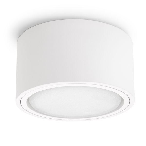 Flacher LED Aufbaustrahler CELI-X in rund & matt weiß mit 5,5W warmweiß GX53 LED – Bild 2