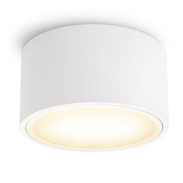 Flacher LED Aufbaustrahler CELI-X in rund & matt weiß mit 5,5W warmweiß GX53 LED – Bild 1