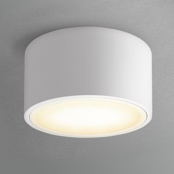 Flacher LED Aufbaustrahler CELI-X in rund & matt weiß mit 5,5W warmweiß GX53 LED – Bild 4