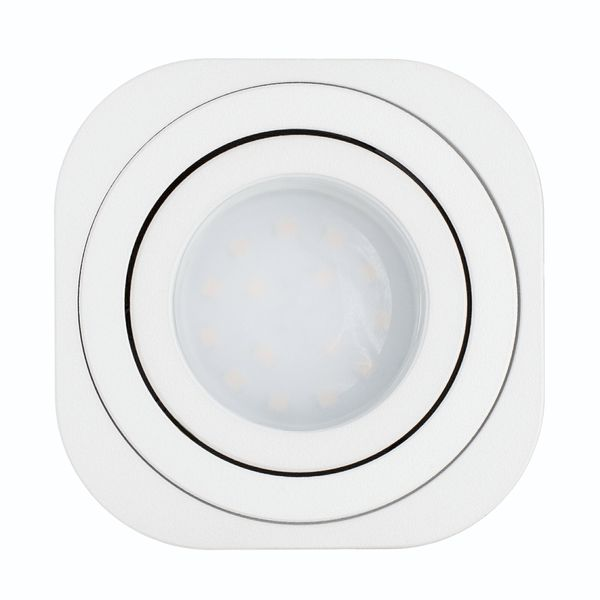 Flacher LED Aufbauspot TEARA schwenkbar in weiß inkl. LED Modul 5W warmweiß 230V – Bild 4